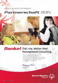 Social Engagement - Sponsoring Special Olympics Österreich 2015