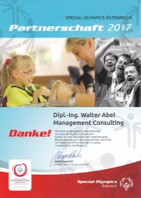 Social Engagement - Sponsoring Special Olympics Österreich 2017